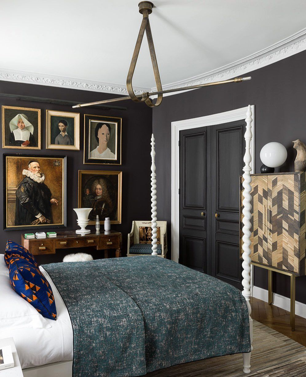 Nice #bedroom decorated by @jeanlouisdeniot in a #parisian ...