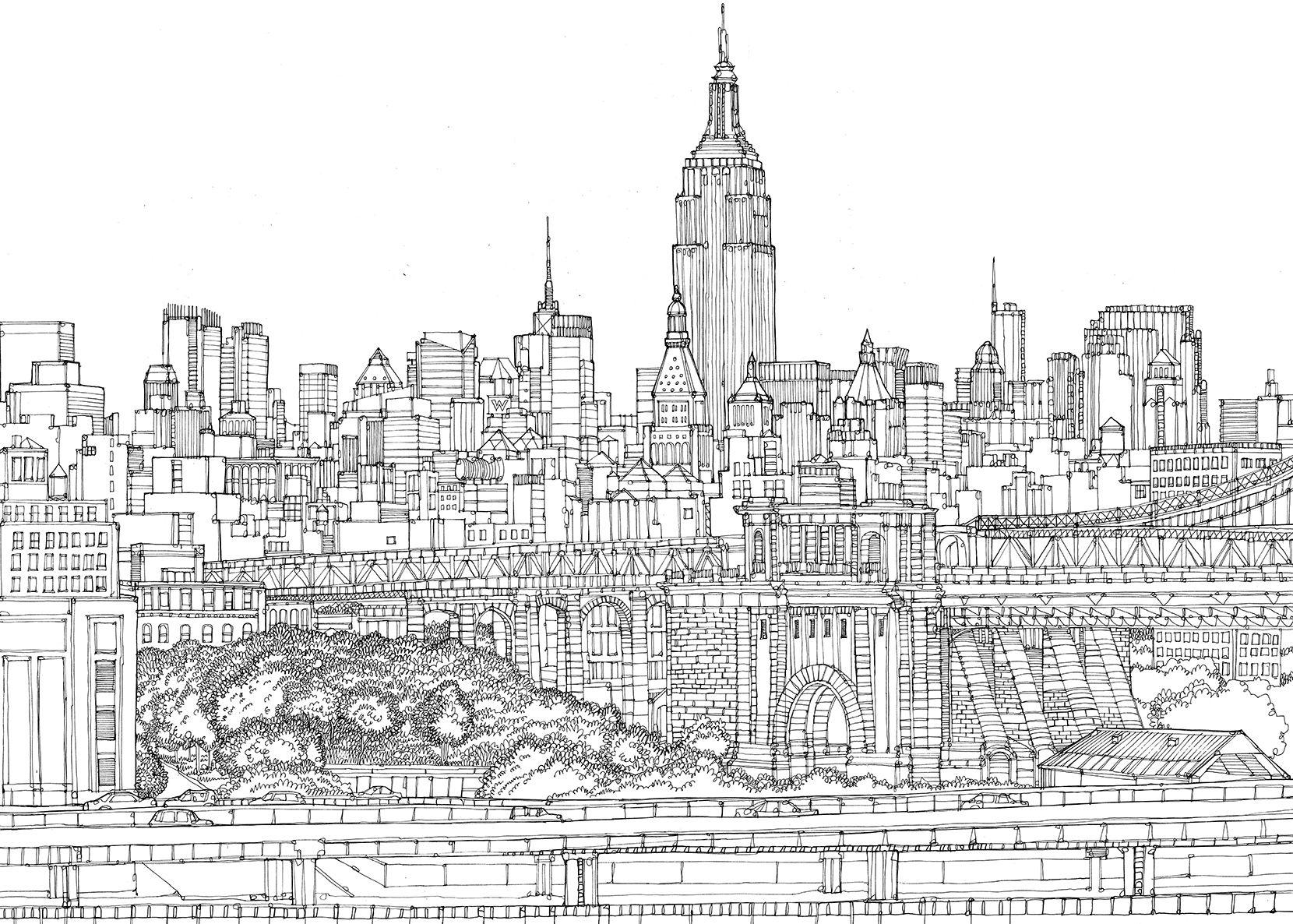 illustrated maps  brooklyn bridge for artvcancer