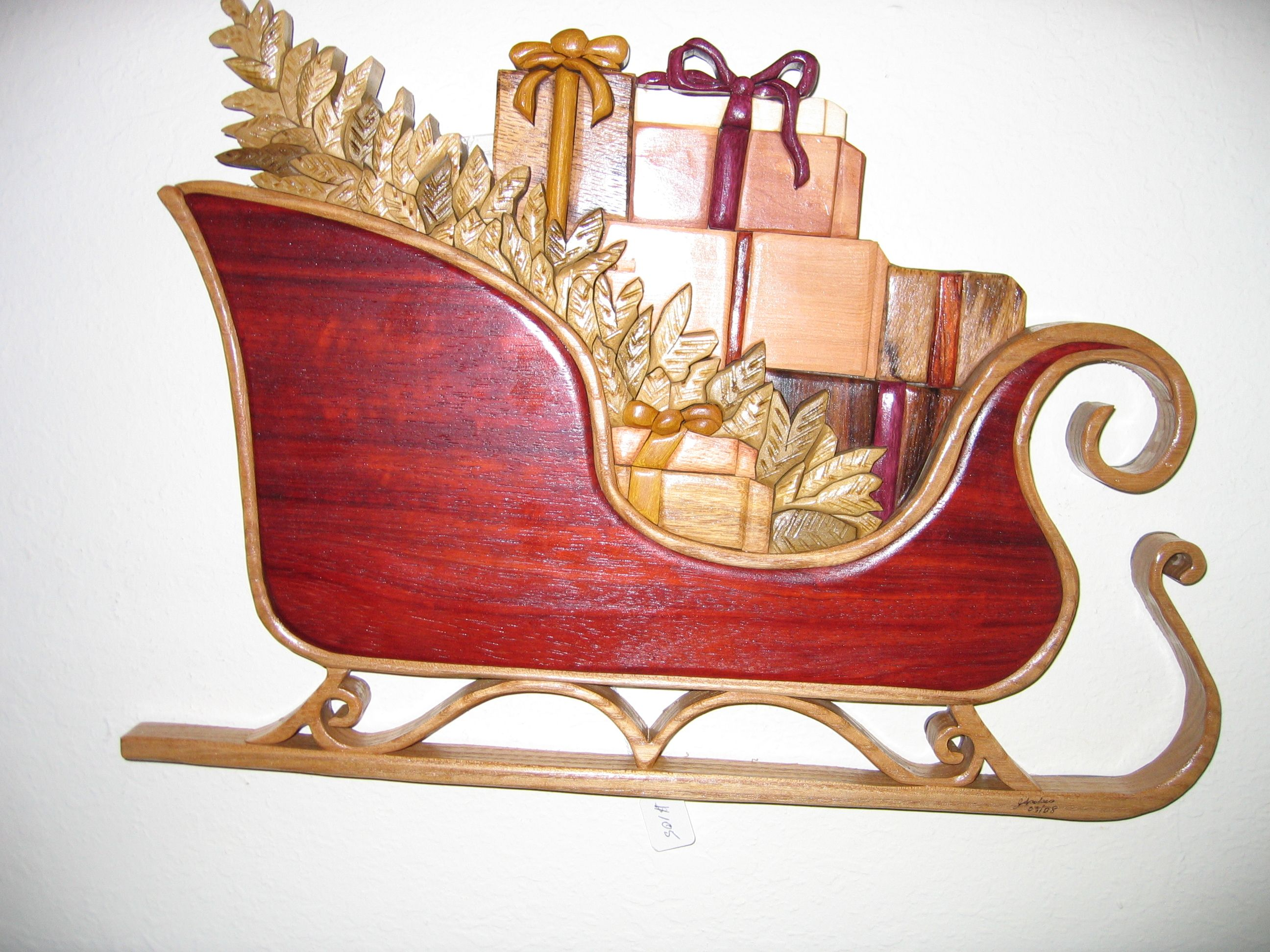 Santa sleigh ornament - Images Of Sleighs Santa Sleigh Decoration