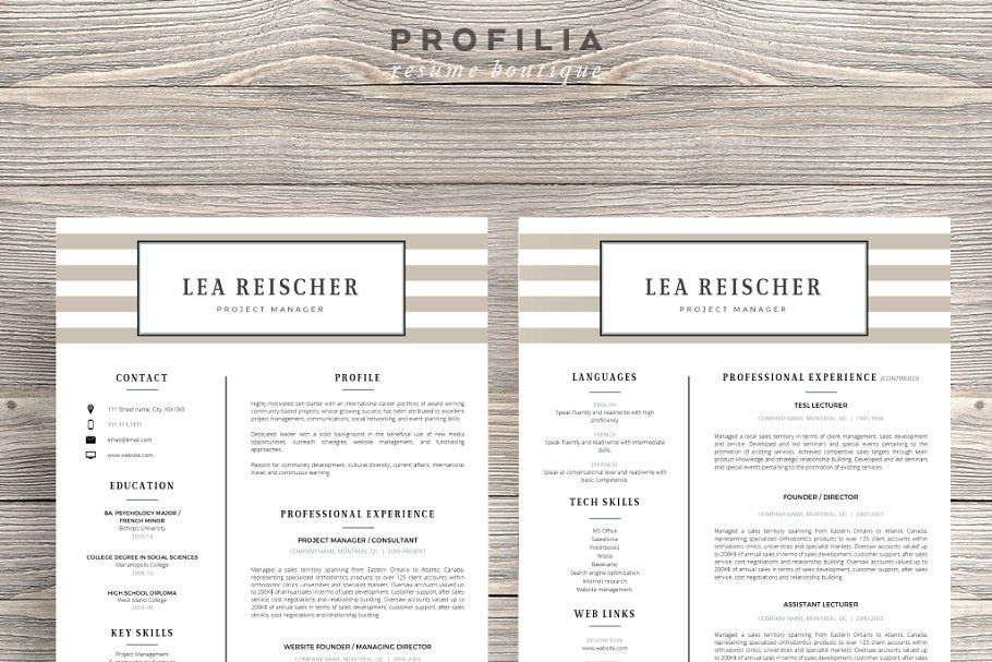 Word Resume & Cover letter Template в 2020 г