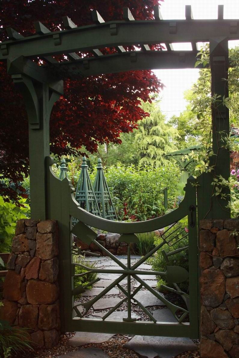 Garden Gates And Fences Entrance Trellis