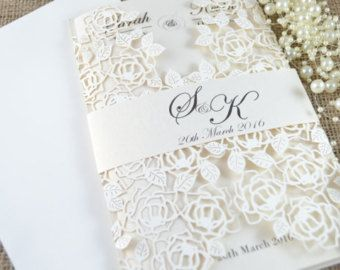 laser cut wedding invitations lace laser cut wedding invitation beautiful wedding invitation - Amazing Wedding Invitations