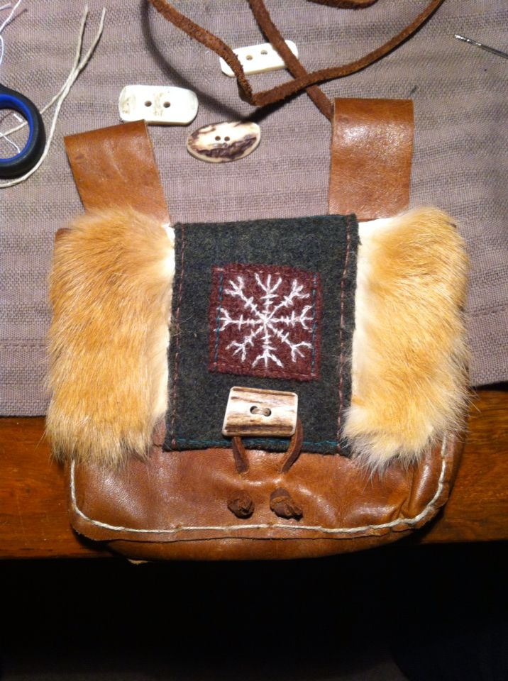 Decorated leather (viking) bags