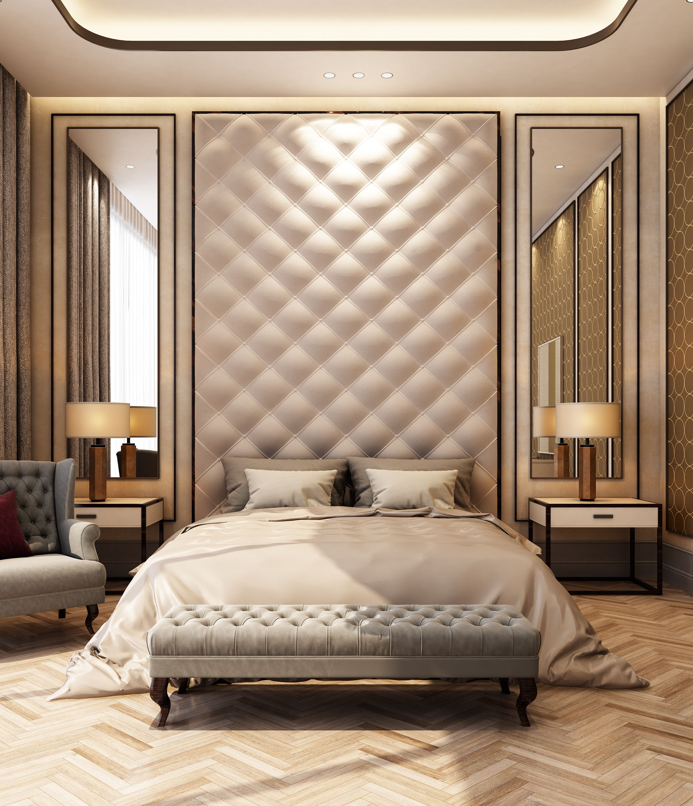Best Luxury Bedroom Suite Love The Upholstered Wall And 400 x 300