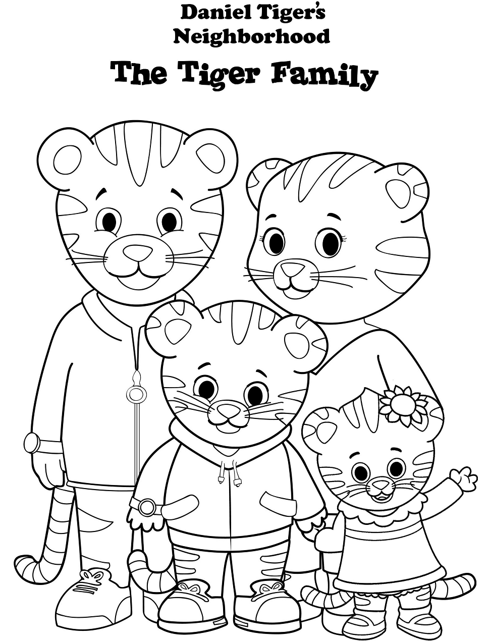 31 Daniel Tiger Coloring Pages Printable Photo Inspirations Slavyanka In 2020 Daniel Tiger S Neighborhood Daniel Tiger Family Coloring Pages