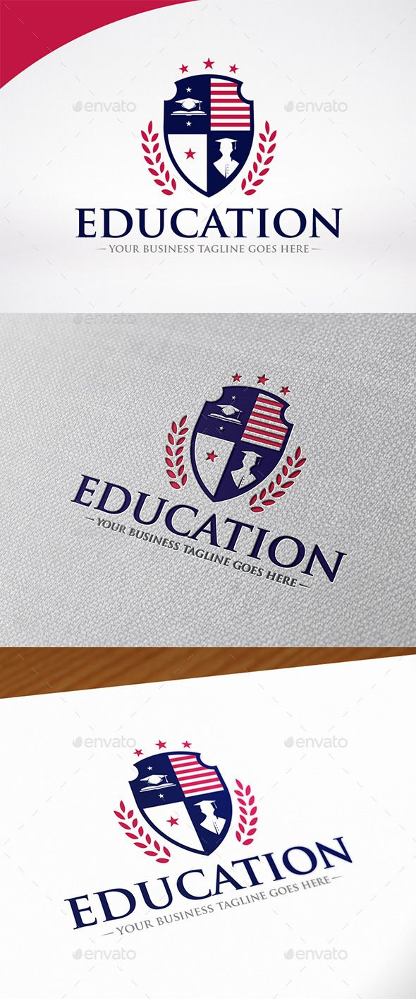 Education Shield Logo Template | Shield logo, Logo templates and Logos