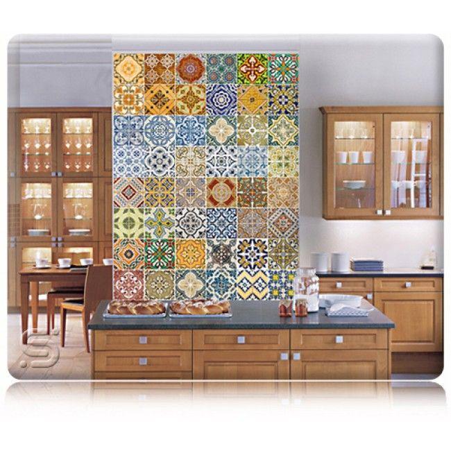 Adesivo de azulejos para cozinha azulejos vintage for Azulejos decorativos