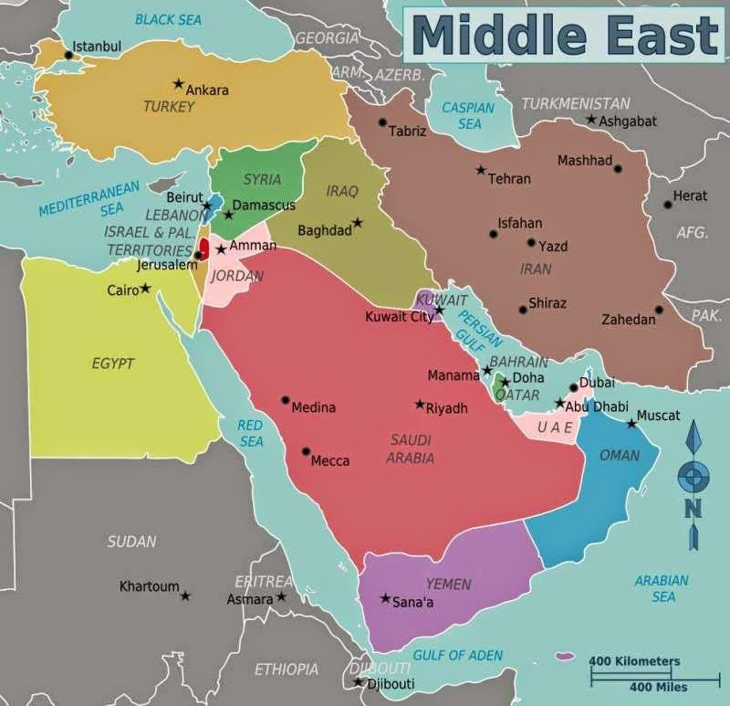 Resource image for printable map of the middle east