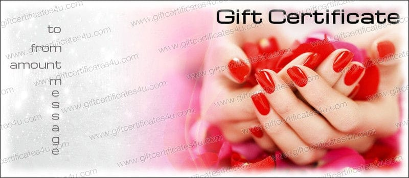 Nail Gift Certificate Template Free 7 Templates Example Templates Example Certificate Templates Gift Certificate Template Free Gift Certificate Template