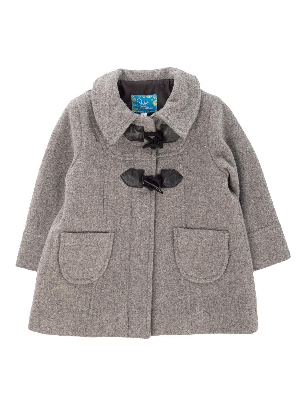 Abrigos nina color gris