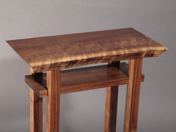 Live Edge Side End Table Small Accent Table Bed Side Table