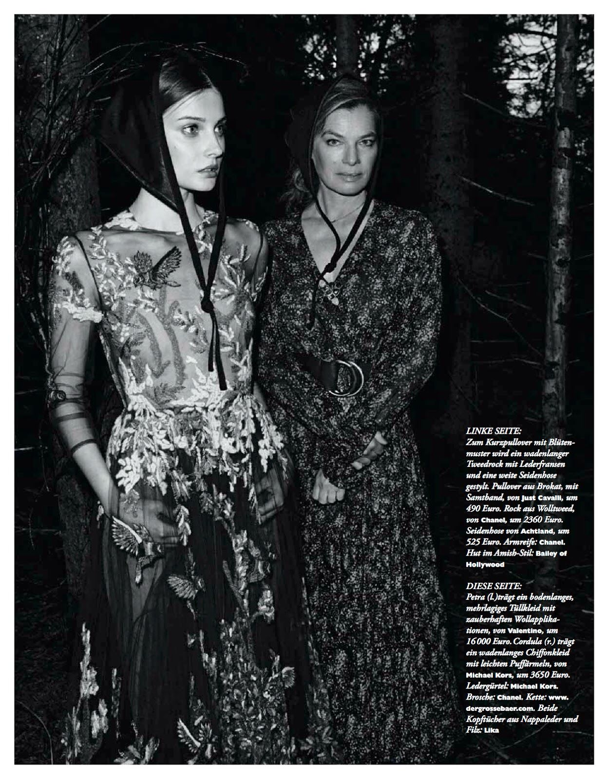 Wald Fee: Petra Hegedus And Cordula Reyer By Mateusz Stankiewicz For Madame Germany August 2014