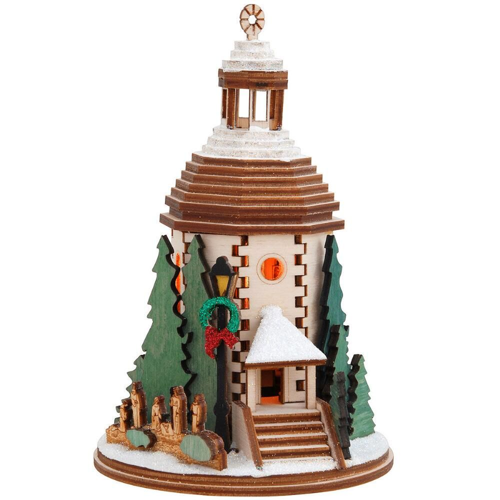 Silent Night Chapel Ginger Cottage Wood Ornament $22.99