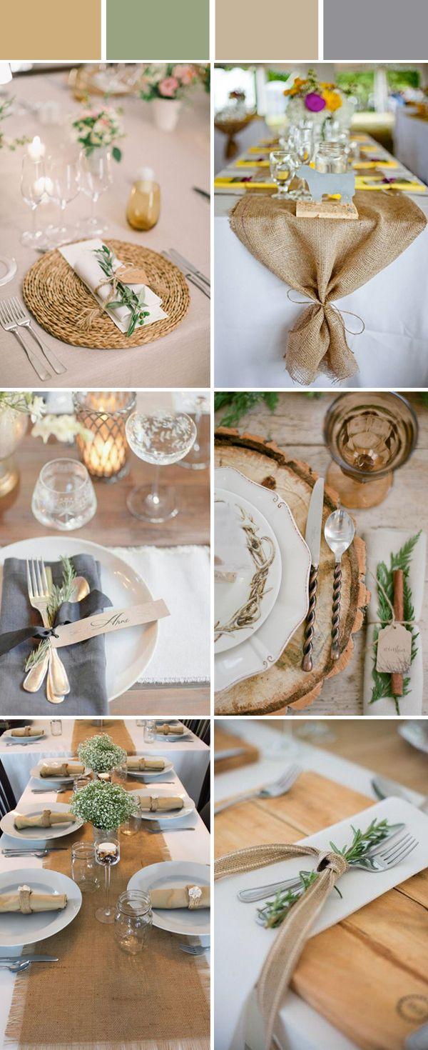 Wedding table setting decoration ideas for reception wedding rustic wedding table decoration ideas using burlap junglespirit Images