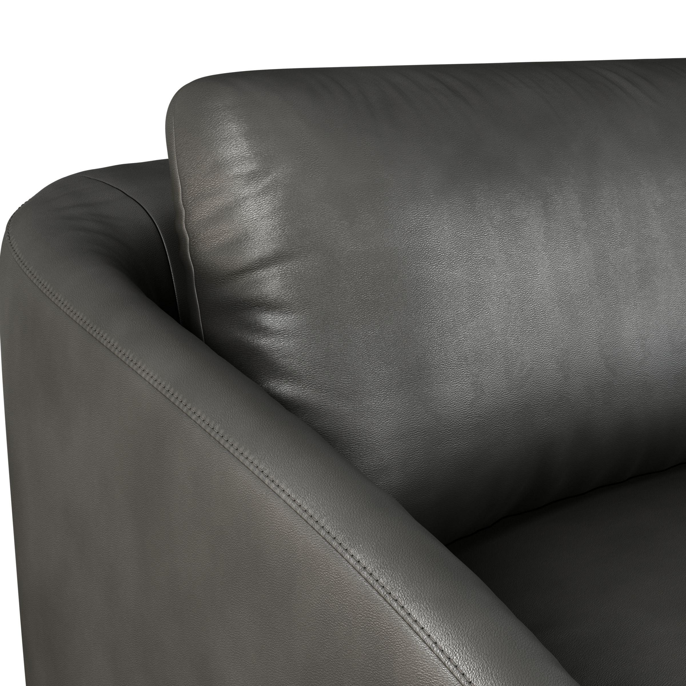 Cape Grand 4 Seater Leather Sofa Dark
