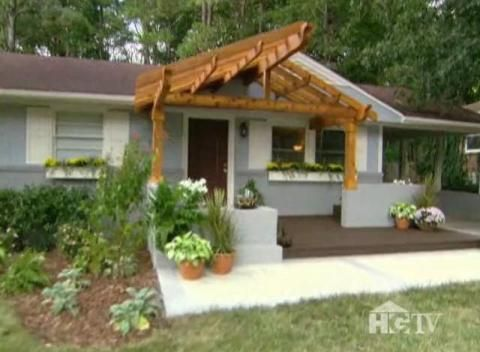 Natural pergola all white house or with grey cedar shake for Exterior updates for ranch style homes
