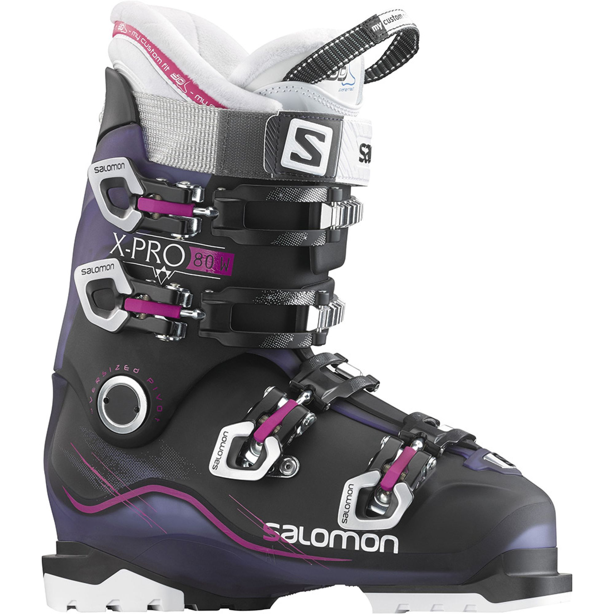 Buty Narciarskie Salomon X Pro 80 W 2016 Czarny Niebieski Boots Ski Boots Ski Women
