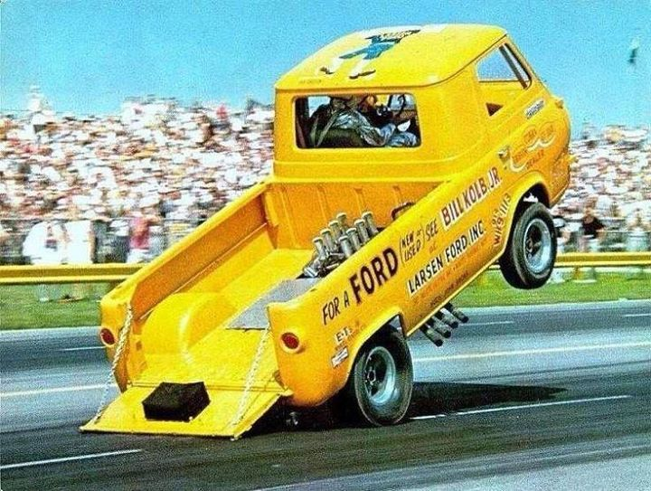 61 67 Ford Econoline Pickup Wheelstander Drag Cars Drag Racing