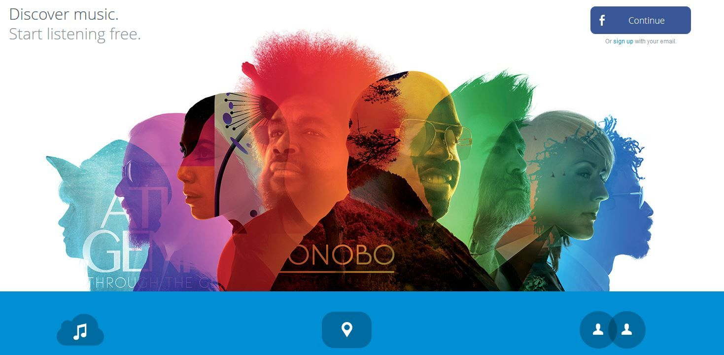 Home Webpage Rdio, colorful layers | Layout - Covers | Pinterest