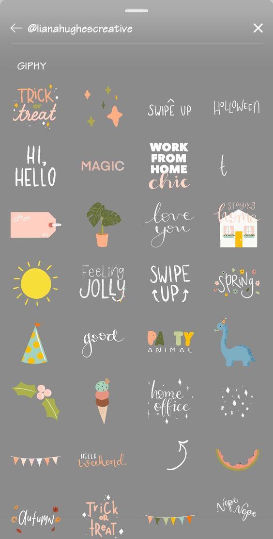 Stickers Para Instagram Magic Hi Hello Swipe Up Instagram Creative Instagram Gift Iphone Instagram