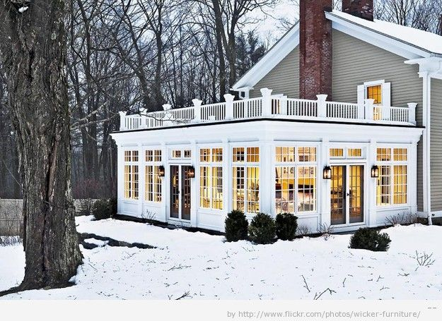 Expanding The Living Space Of Your Home With Exterior Design And Structural Additions Such As A Steel Patio Ca Sunroom Designs Old Farm Houses House Exterior