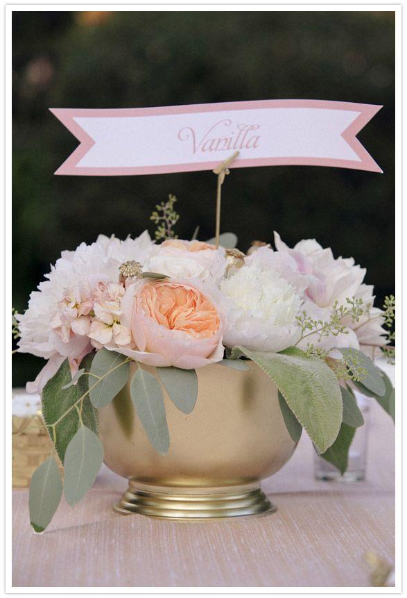Pink And Gold Centerpiece Com Imagens Decoracao De Casamento