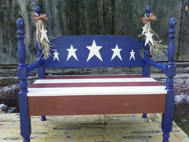 Americana Bench Made Feom A Single Bed Frame Single
