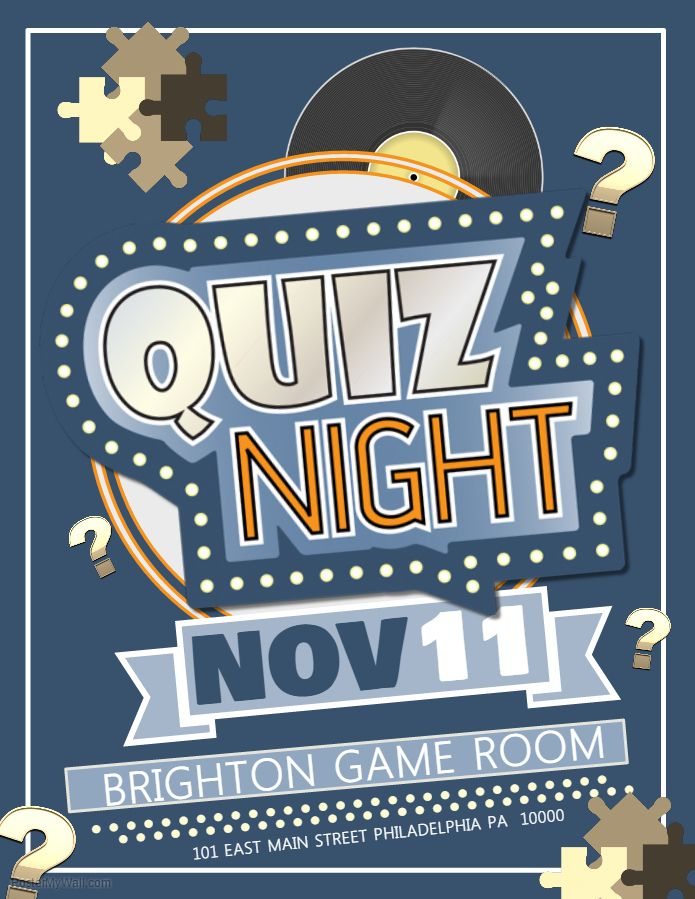 Quiz Night Competition Poster Template. | bookstore | Pinterest ...