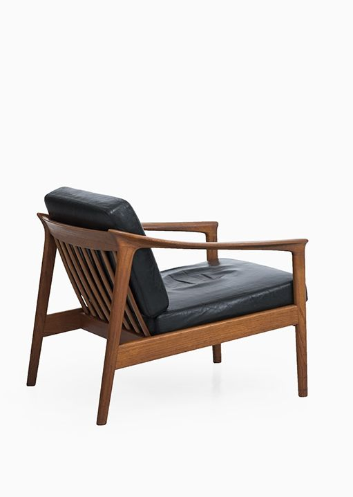 Folke Ohlsson; Teak and Leather \u0027Colorado\u0027 Easy Chair for Bodafors