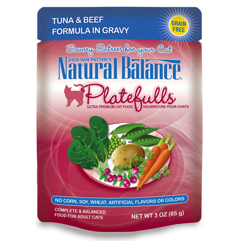Natural balance platefulls tuna beef formula in gravy