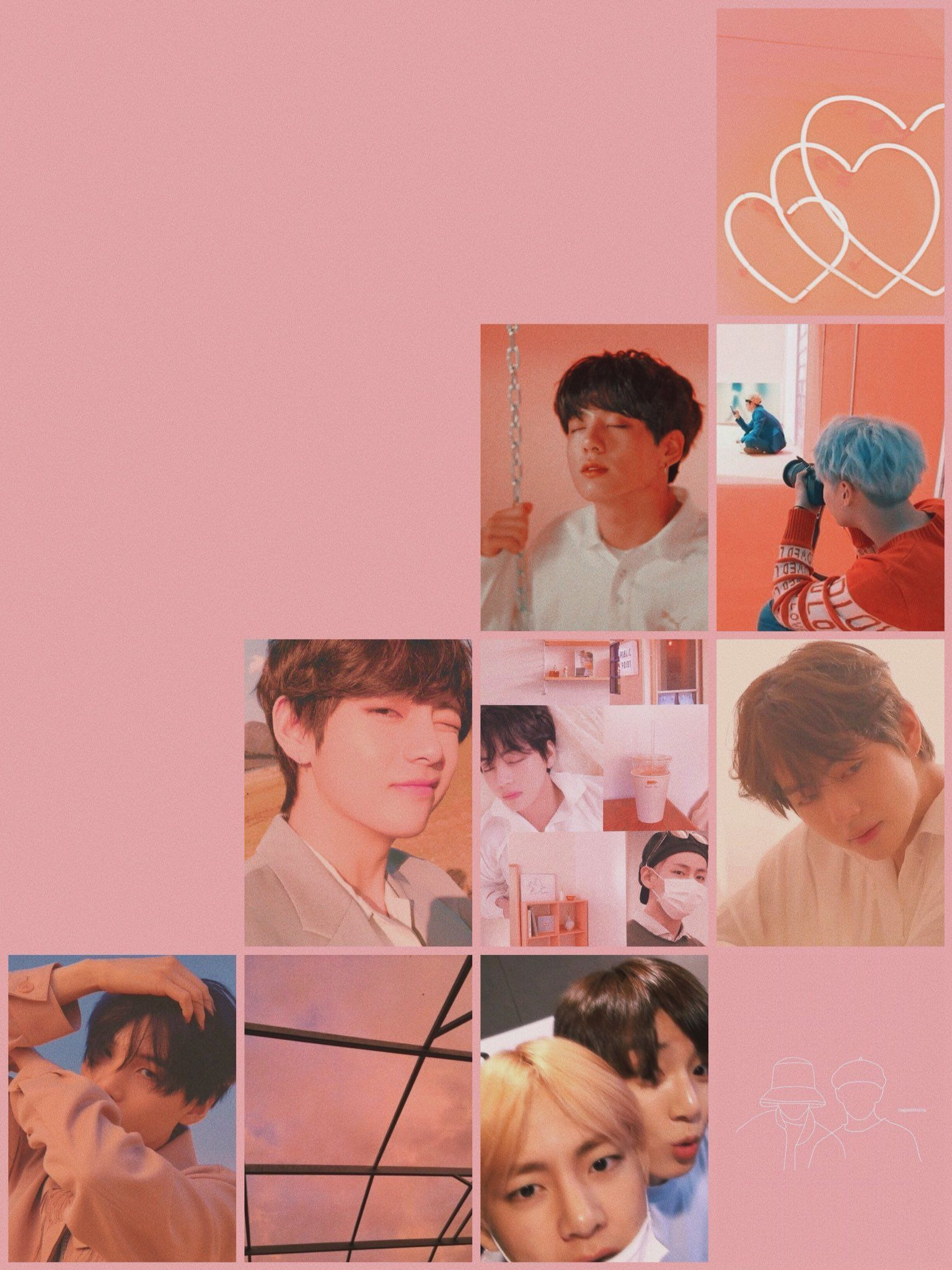 Bts Wallpapers On Bts Aesthetic Wallpaper For Phone Peach Wallpaper Bts Wallpaper Bts wallpaper 2021 ipad