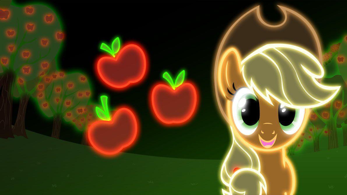 Neon Applejack Wallpaper By Zantyarz On Deviantart My Little Pony Applejack My Little Pony Pictures My Little Pony Wallpaper