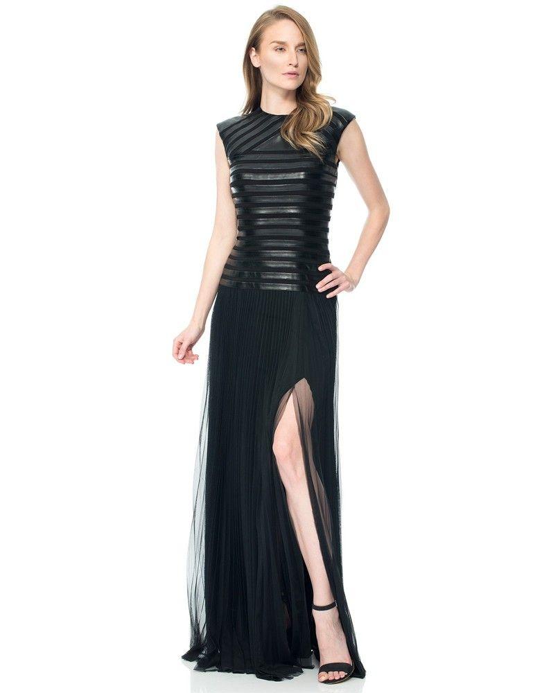 Tadashi AQY2238L Leather Strip Pleat $458 | Fabulous Fashionista ...