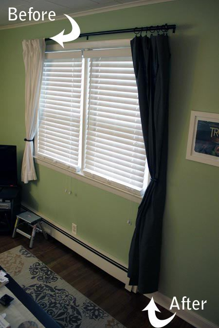 Before And After Modified 84 Inch Curtains Window Curtains