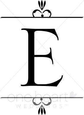 for elrod letter e clip art embroidery baby monogram wedding needlepoint