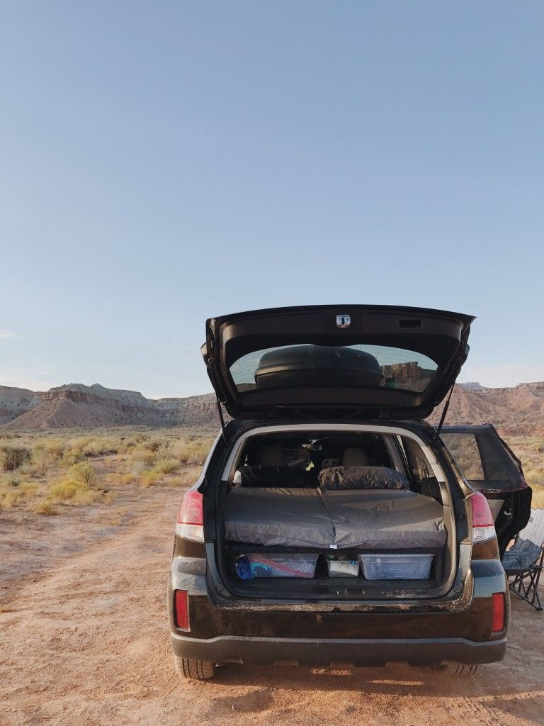 How To Turn Your Subaru Outback Into A Camper A Few Years Ago I Converted My Suv To A Camper By Buildin Subaru Outback Subaru Outback Offroad Outback Campers