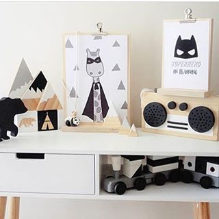 """37 Likes, 5 Comments - Pika & Pookie Designs (@pika_and_pookie) on Instagram: """"Scandi monochrome goodness 🖤 How great is this kid's bedroom styling?! Featured here are 2 of our…"""""""