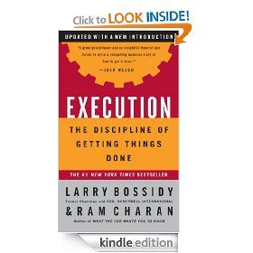 Execution: The Discipline of Getting Things Done [Kindle Edition].  List Price: #EANF#  Savings: #EANF#