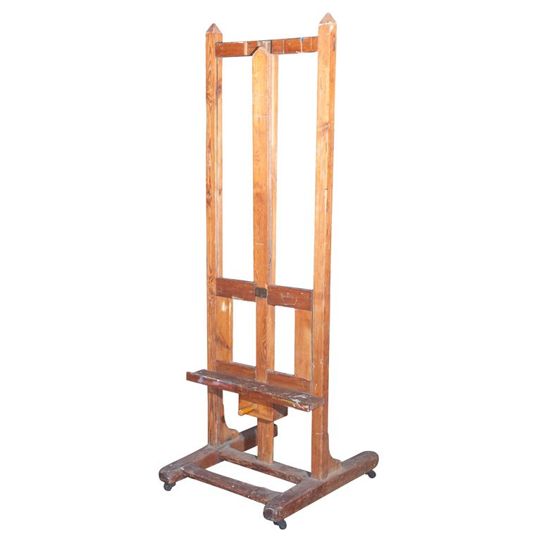 French Oak and Pine Painter's Studio Easel, c. 1920-40