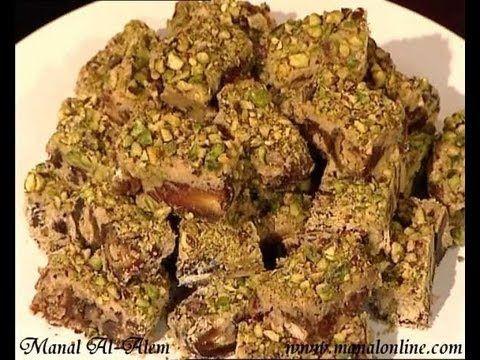 مربعات التمر وصفة من بسمتي Www Basmaty Com Youtube Middle Eastern Desserts Palestinian Food Food