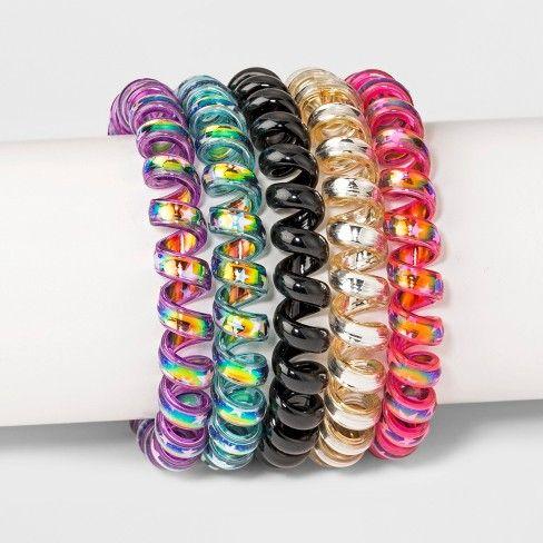 Phone Cord Pony Holders 5ct Hair Elastics   Target Coil Hair Ties 87990cb1df3