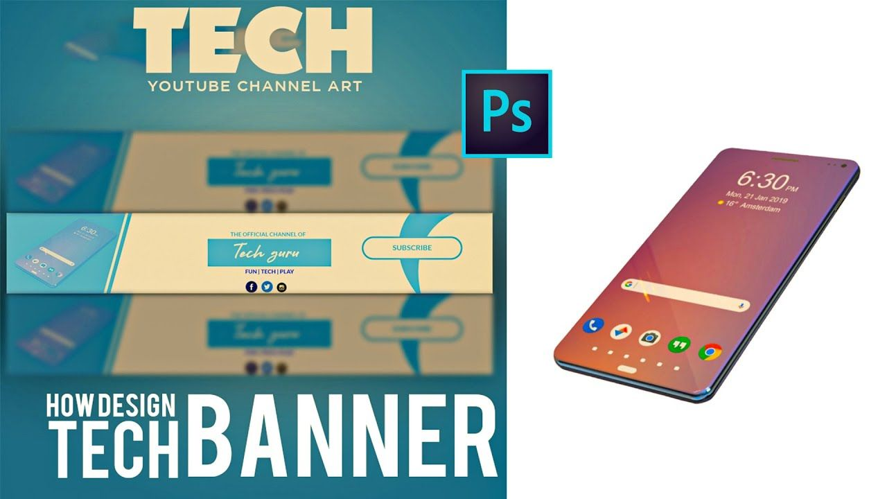 How To Make A Youtube Channel Art In Adobe Photoshop For Free Simple Easy Way Youtube Channel Art Pixlr Tutorial Channel Art