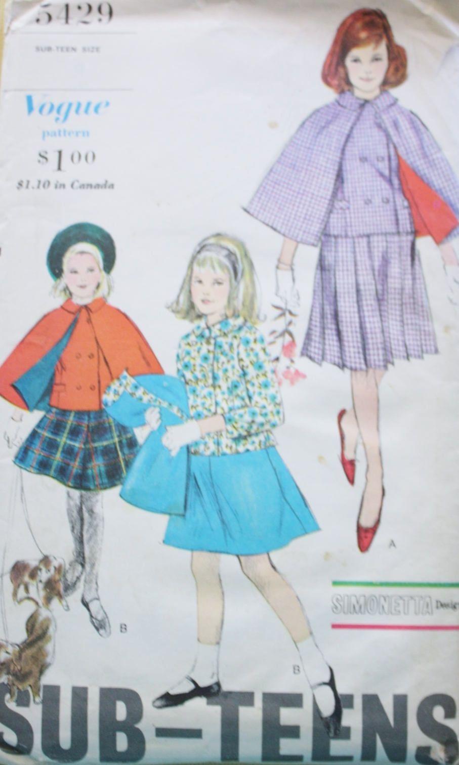 Niedlich 60s Nähmustern Bilder - Strickmuster-Ideen ...