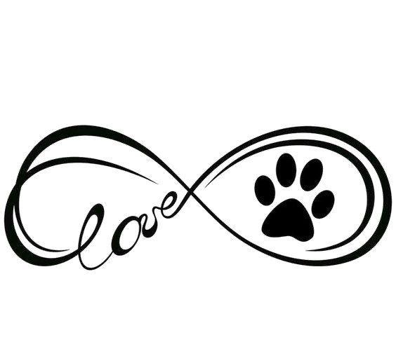 Infinity Symbol Love Dog Paw Svg Png Jpg Cricut Silhouette Dogs In 2020 Dog Tattoos Pawprint Tattoo Dog Memorial Tattoos