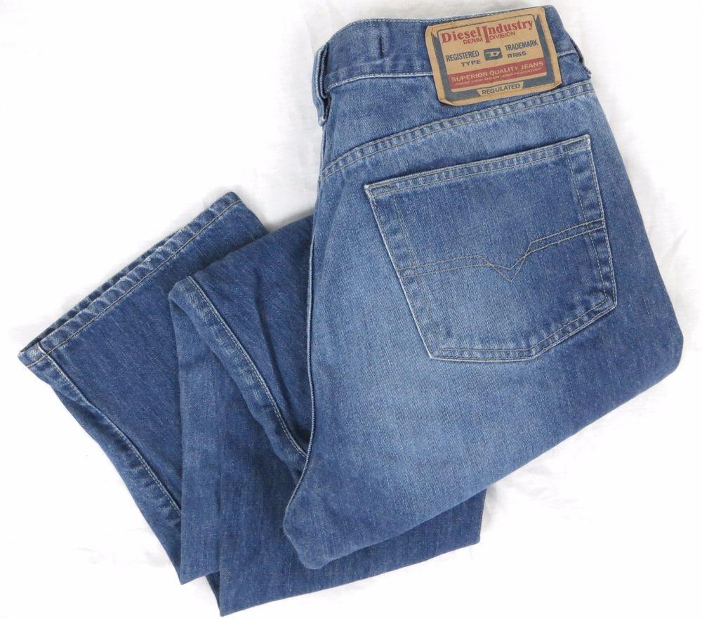 DIESEL Kulter Jeans 34 x 31 Classic Straight Leg Blue Distressed Denim Division #DIESEL #ClassicStraightLeg
