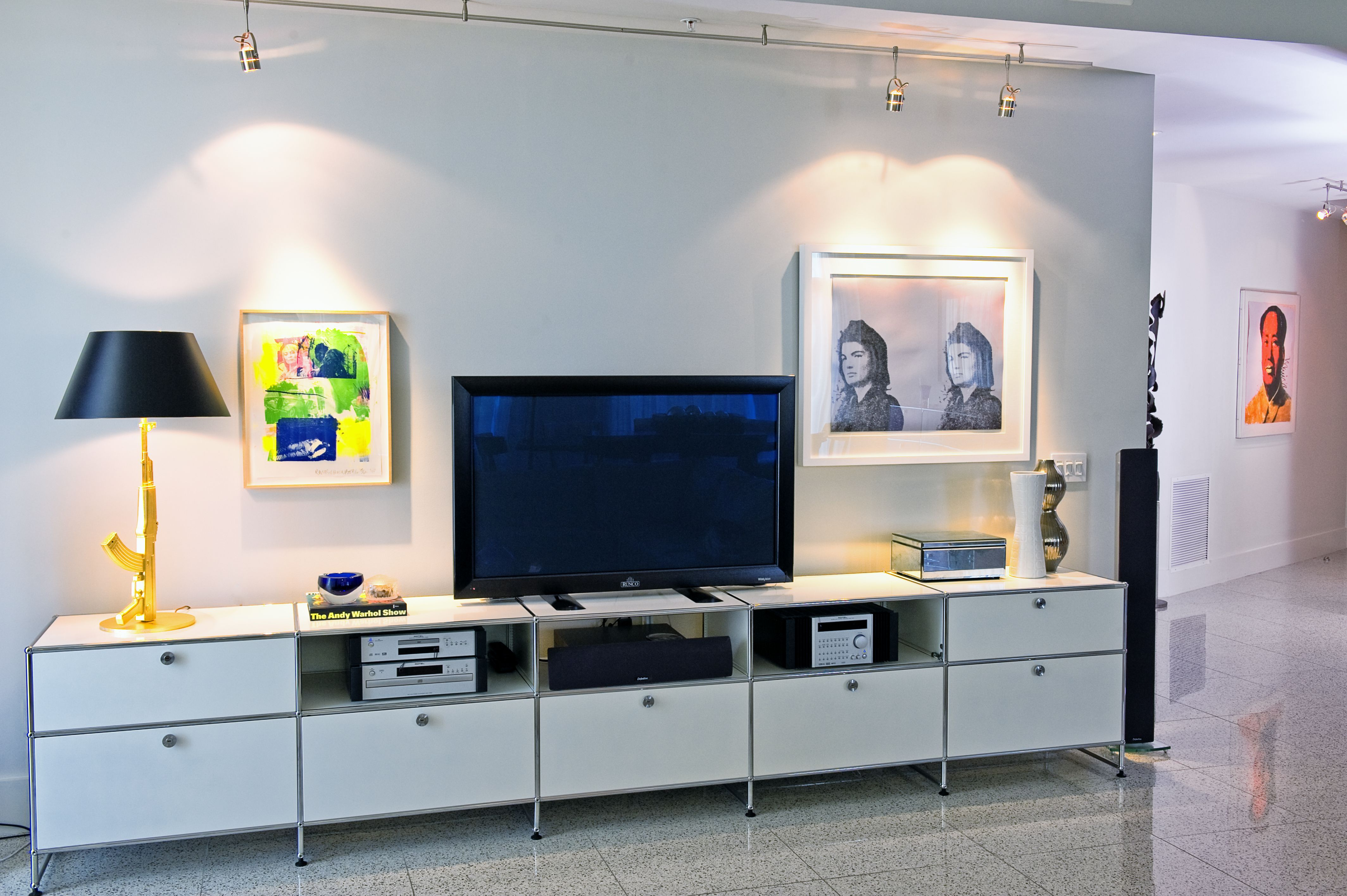 USM Modular Furniture, Flos Lighting. Warhol. Rauschenberg ...