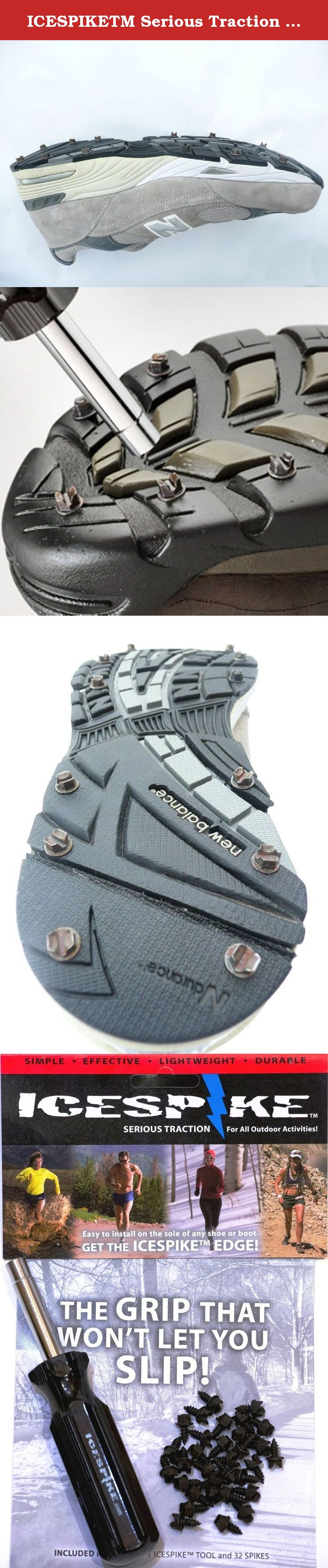 Chains or Coils. No Straps ICESPIKETM Serious Traction for Any Outdoor Activity