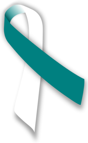 Pin On Cervical Cancer Awareness Ribbon Support And Art Gifts