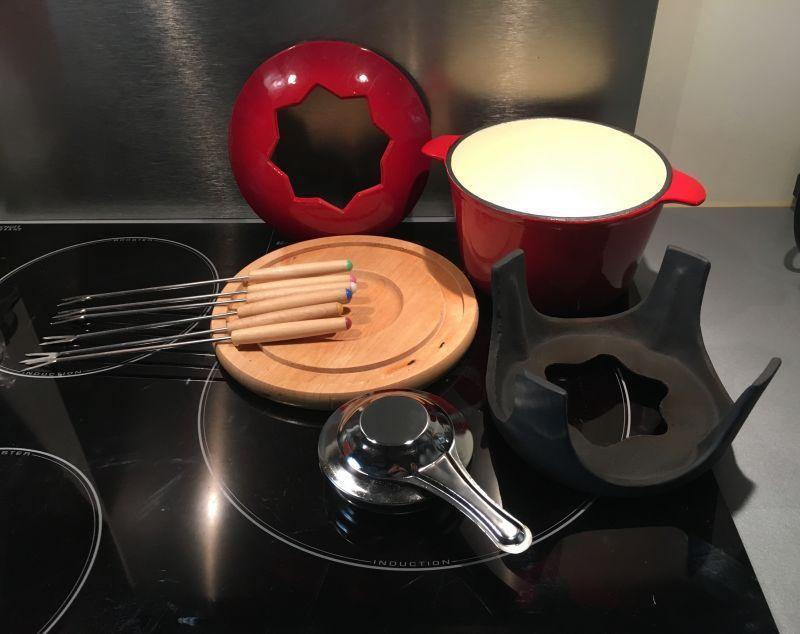 Fondue savoyarde bourguignone chinoise au chocolat - Appareil a fondu en fonte ...