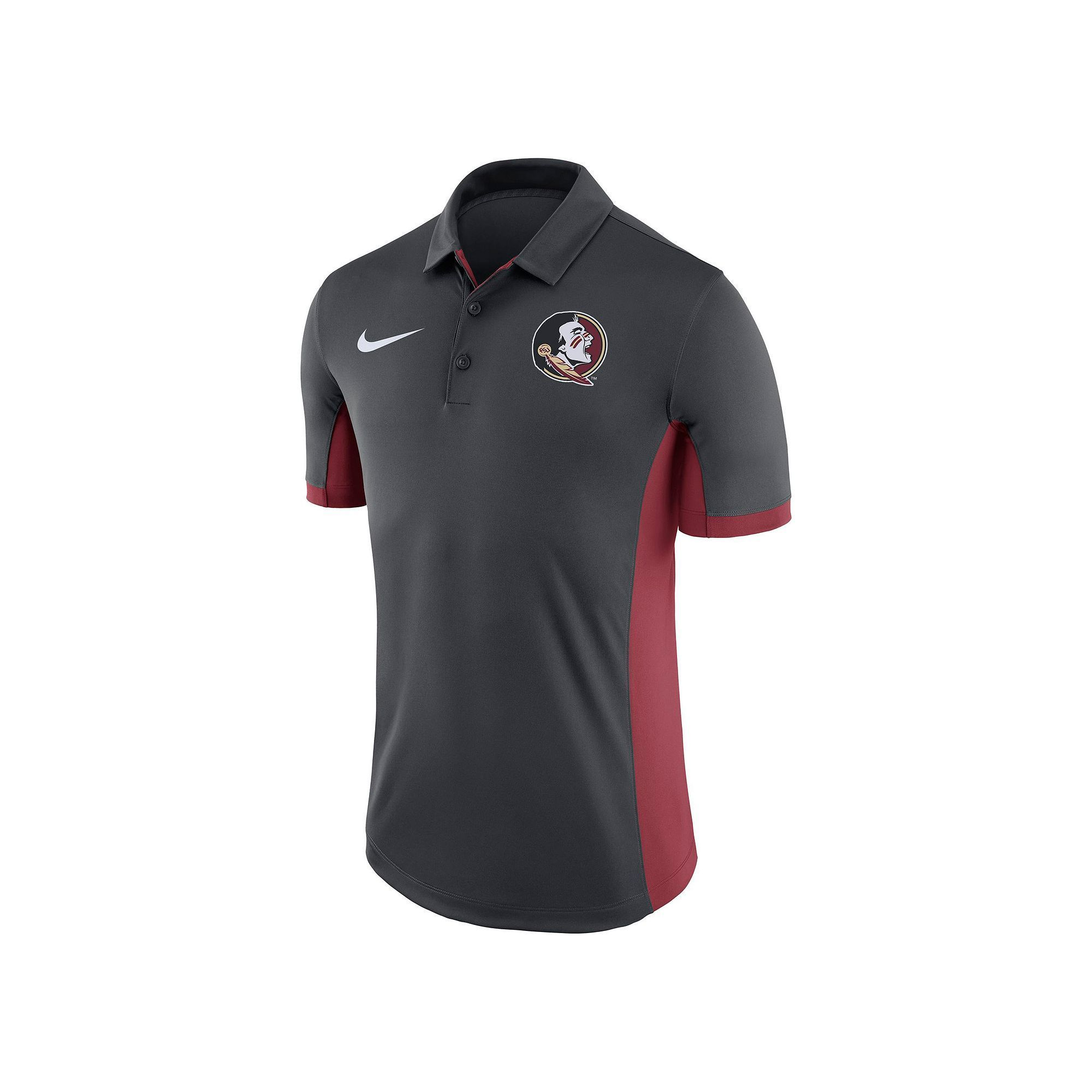Men's Nike Florida State Seminoles Dri-FIT Polo, Size: Medium, Black